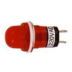 PILOT LAMP RED 12VDC N-809P (ROUND CONE SHAPE)
