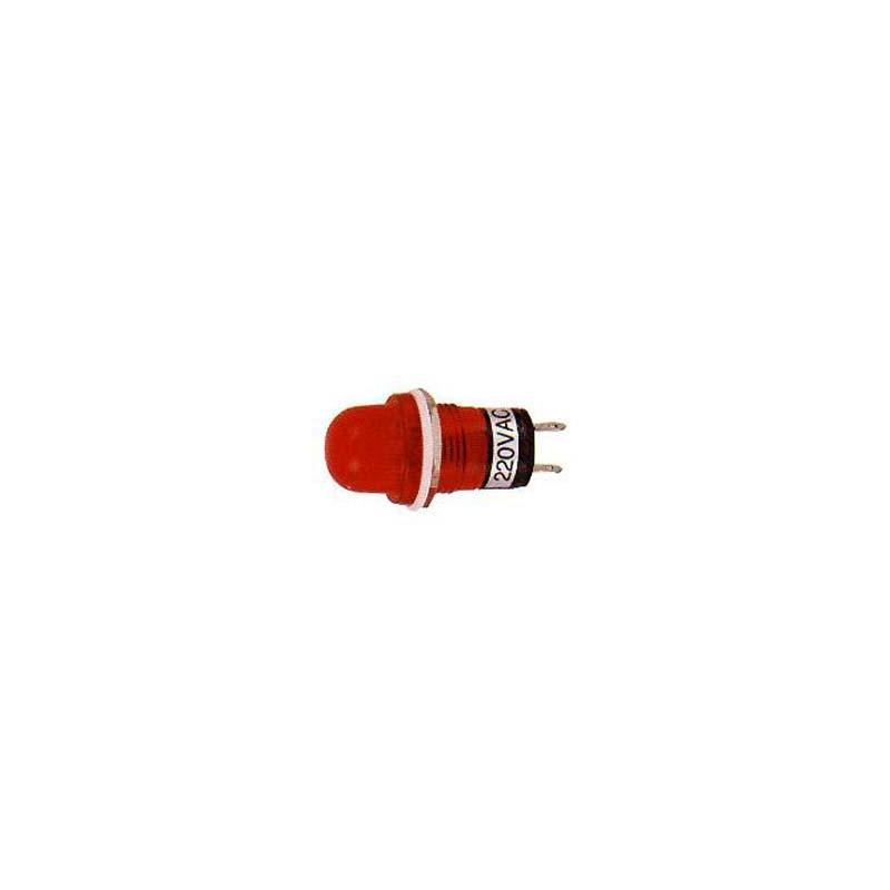 PILOT LAMP RED 12VDC N-809P (ROUND CONE SHAPE)