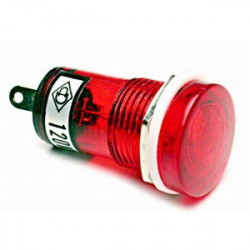 PILOT LAMP 12VAC/DC RED N-019 (FLAT TOP SHAPE)