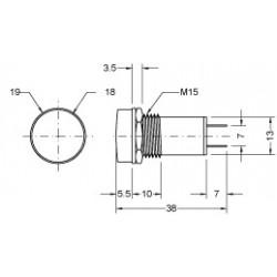 PILOT LAMP 24V DC/AC BULB RED N-019