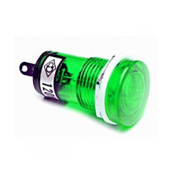 PILOT LAMP 12VAC/DC GREEN N-019