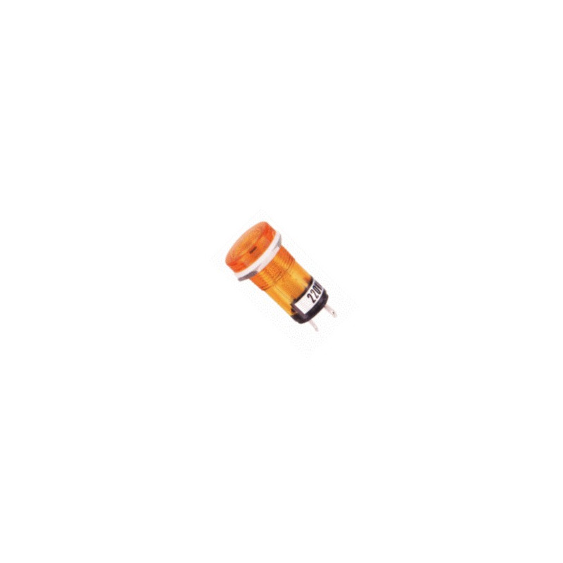 PILOT LAMP 120VAC NEON ORANGE N-019