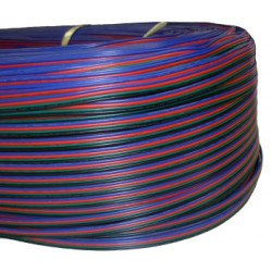 FLAT RIBBON CABLE 4 PIN RGB 4X22AWG - PER FT