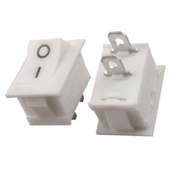 ROCKER SWITCH ON-OFF 125VAC 6A WHITE