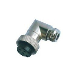 PLUG & JACK, DIN, METAL, RIGHT ANGLE, 3P, (F)
