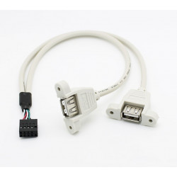 DUAL USB MOUNT WITH JUMPER CABLE LEADS