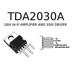 IC TDA2030 AUDIO AMPLIFIER, 18W