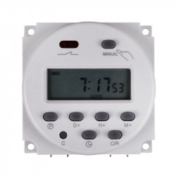 12VDC DIGITAL TIMER RELAY 24H/7D 240V/16A CONTACT