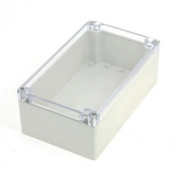 PLASTIC SEALED BOX 220X145X55 MM W/CLEAR TOP