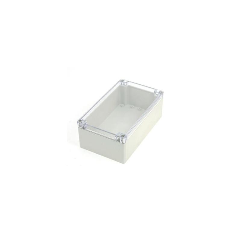 PLASTIC SEALED BOX 220X145X55 MM W/CLEAR TOP