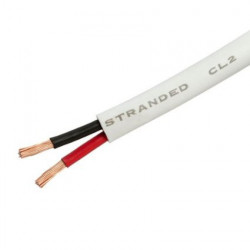 MULTICORE 2-CONDUCTOR WHITE 18AWG