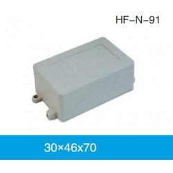 ENCLOSURE, PLASTIC BOX W/HOLE 78X45X30MM WHITE