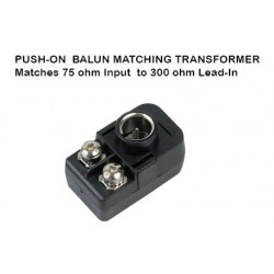 TRANSFORMER, MATCHING, 300 TO 75 OHM W/ PLUG