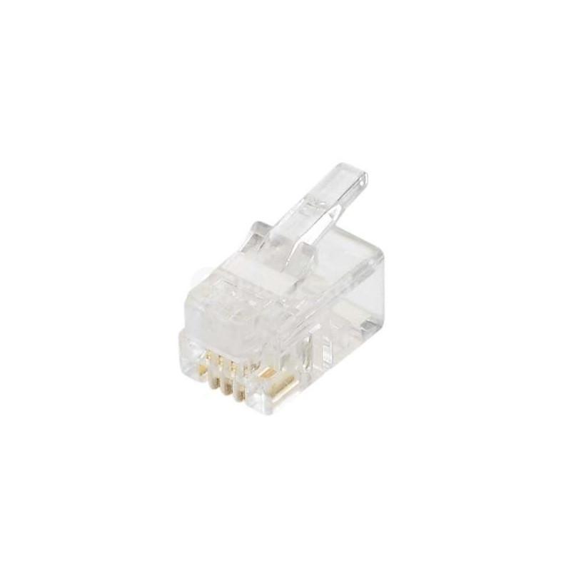 TEL. PLUG 4P/4C HANDSET MODULE 12-253-0 4PCS