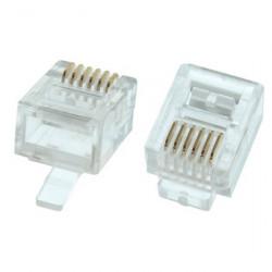 TEL PLUG 6P/6C 12-256-0 4PCS