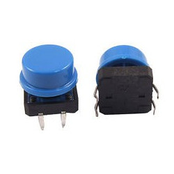TACK SWITCH OMRON B3F WITH BLUE CAP
