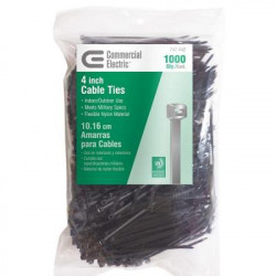 """CABLE TIE 4"""" GT-100MB BLK 1000PCS"""