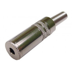 CONNECTORS, 3.5MM MONO INLINE METAL JACK
