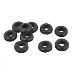 RUBBER GROMMET ID:8MM OD:18MM 10PCS BLACK