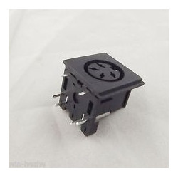 DIN JACK 4-PIN PC MOUNT 26-340-0