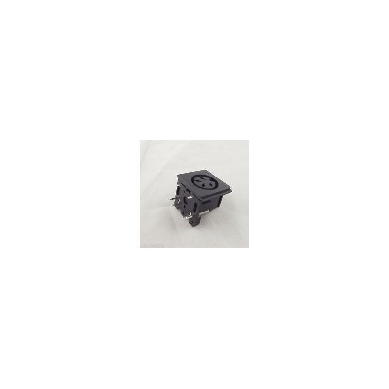 DIN JACK 4-PIN PC MOUNT 26-340-0