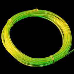 EL WIRE KIT, FLUORESCENT GREEN 1M (CHASING) W/ DRI