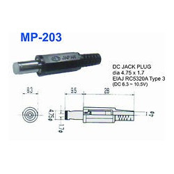 DC POWER PLUG 1.7MM MP-203 EST JAPAN