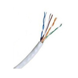 ETHERNET CABLE RJ-45 CAT5E PW-508 WHITE PER FT