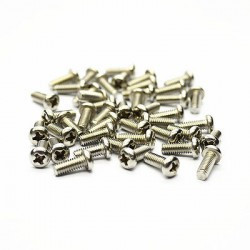 SCREW MAC 1.7X6MM BLACK ROUND 100PCS