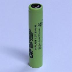 "BATTERIES GP91AAALH-0 910MAH""AAAL"" MJ CONNECTORS"