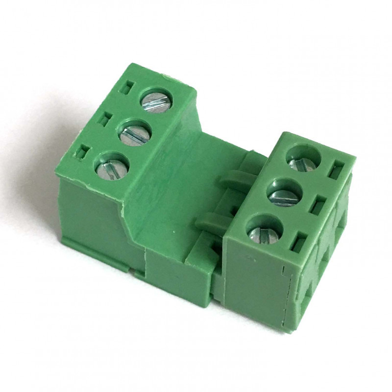 TERMINAL BLOCK 5.08MM 3-POS M/F INTERLOCK SET