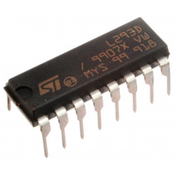 H-BRIDGE L293D QUADRUPLE HALF-H DRIVER W/ DIODE