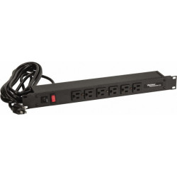"POWER BAR 19"" 8 OUTLET W/CABLE"