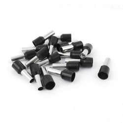 FERRULE TERMINALS E7508 BLACK 20PCS