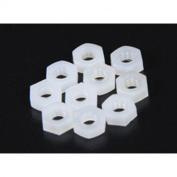 SCREW NYLON PN-4 NUT 10PCS