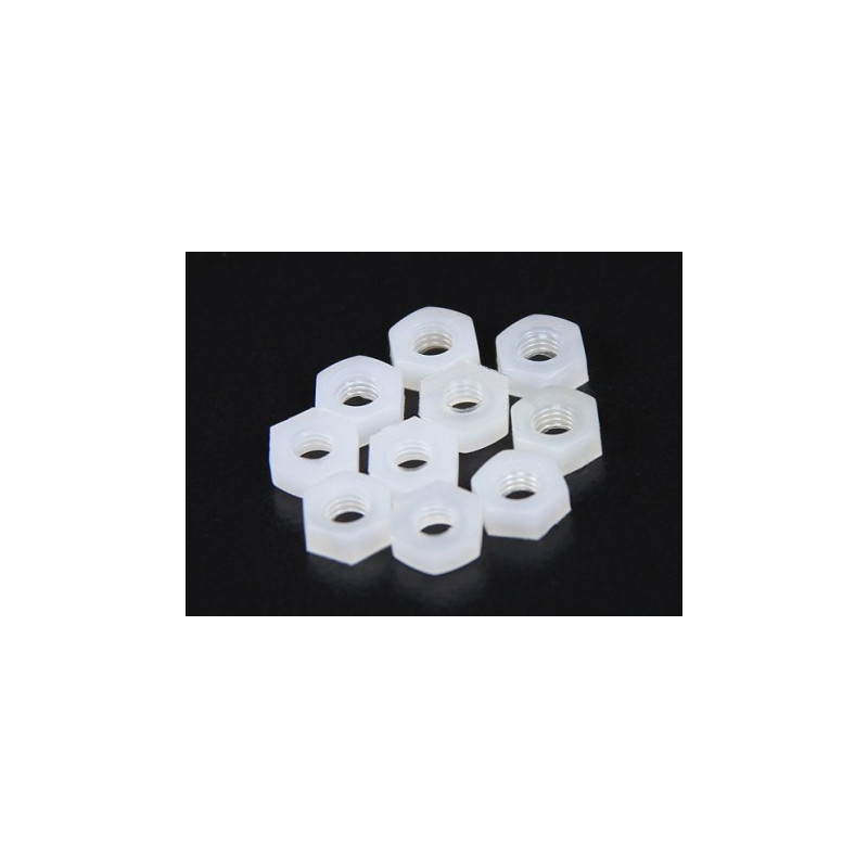 SCREW NYLON PN-5 NUT 10PCS