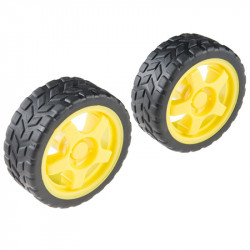 RUBBER WHEEL 65MM PAIR (2PC)