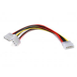 DC POWER PLUG MOLEX 4P 5.25 MALE TO 2X5.25 FEMALE