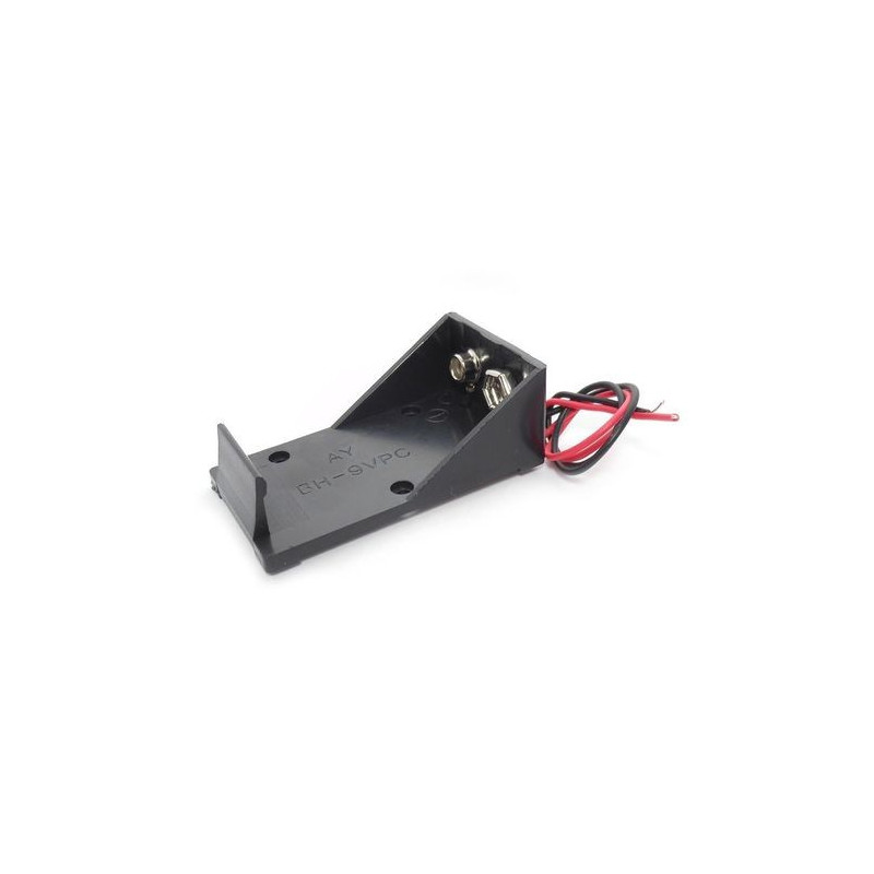 BATTERY HOLDER, 9V HOLDER OPEN, BH-9VPC w/ WIRE