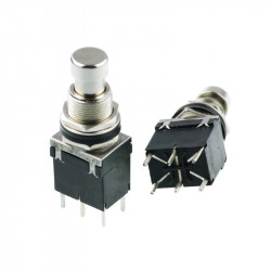 PUSH BUTTON DPDT MOMENTARY FOOT SWITCH, w/TERMINAL