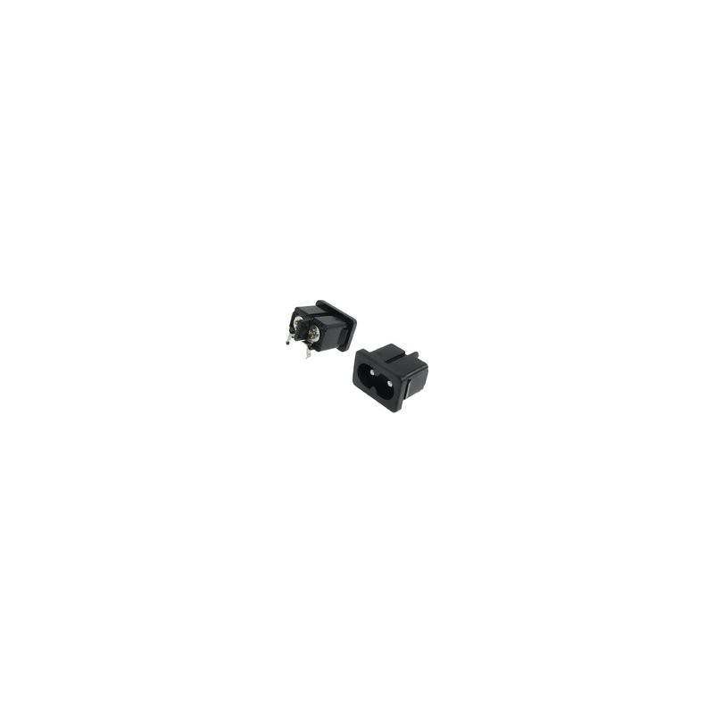 POWER SOCKET IEC320-C7 10A PC MOUNT