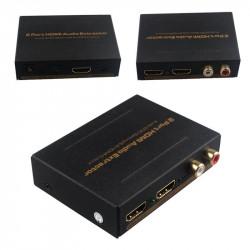 HDMI AUDIO EXTRACTOR W/ 2 PORT SPLITTER
