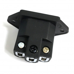 IEC SOCKET PANEL MOUNTED W/SCREW TERMINAL