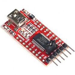 USB TO FTDI BREAKOUT 5V/3.3V SELECT W/ HEADER PINS