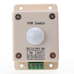 LED PIR MOTION SWITCH DC12-24V 8A