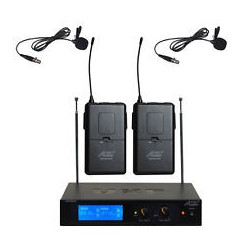 WIRELESS LAPEL MICROPHONE UHF PLL SYSTEM W/2 MIC SET
