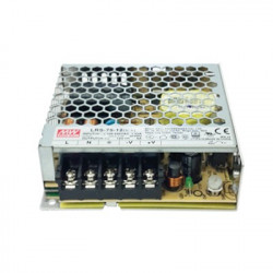 POWER SUPPLY, SWITCHING, 12VDC, 6.2A, LRS-75-12