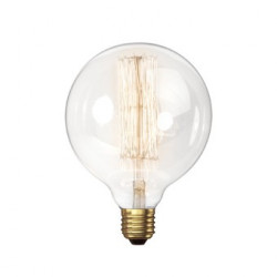 VINTAGE LIGHT BULB G95 25W 120VAC E27
