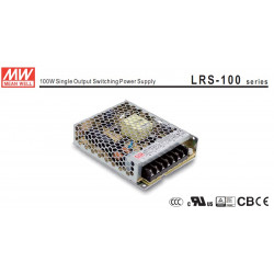 POWER SUPPLY, SWITCHING, 24VDC, 4.5A, LRS-100-24