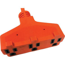 POWER EXTENSION 19.68FT OUTDOOR 3-PLUG